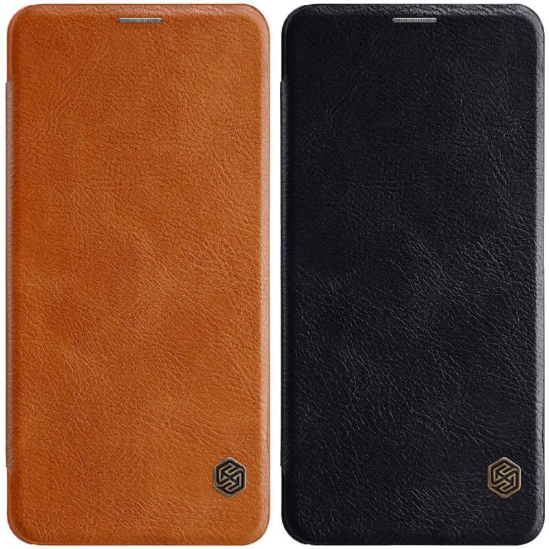 Кожаный чехол (книжка) Nillkin Qin Series для LG V50 ThinQ