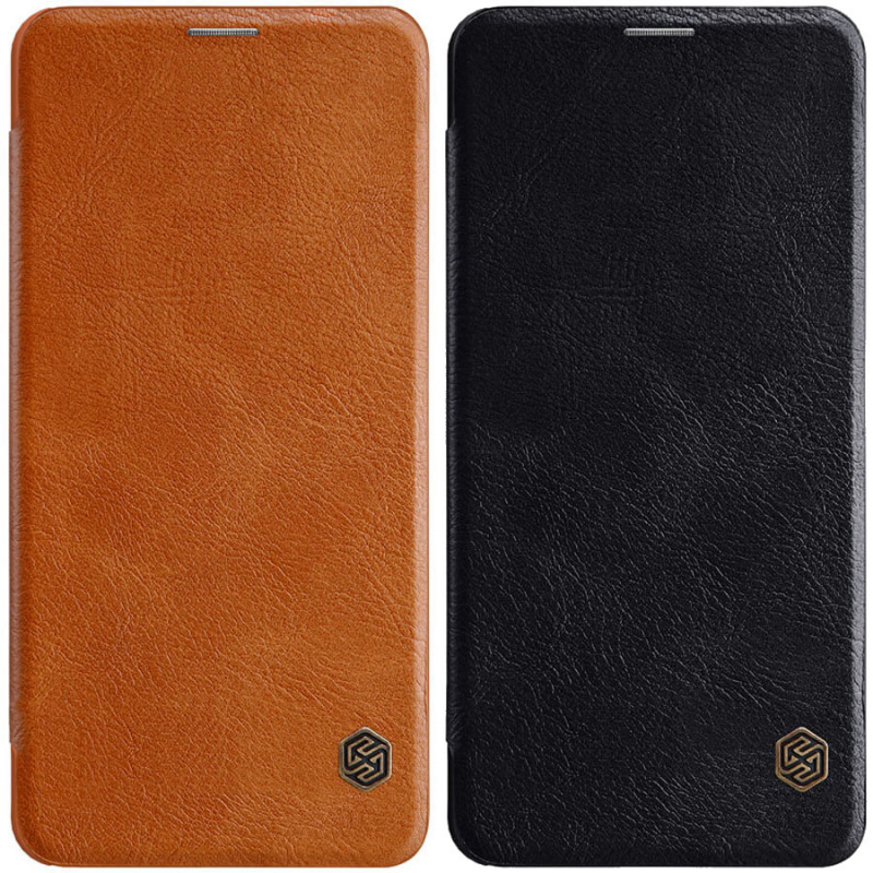Кожаный чехол (книжка) Nillkin Qin Series для Samsung Galaxy A8s
