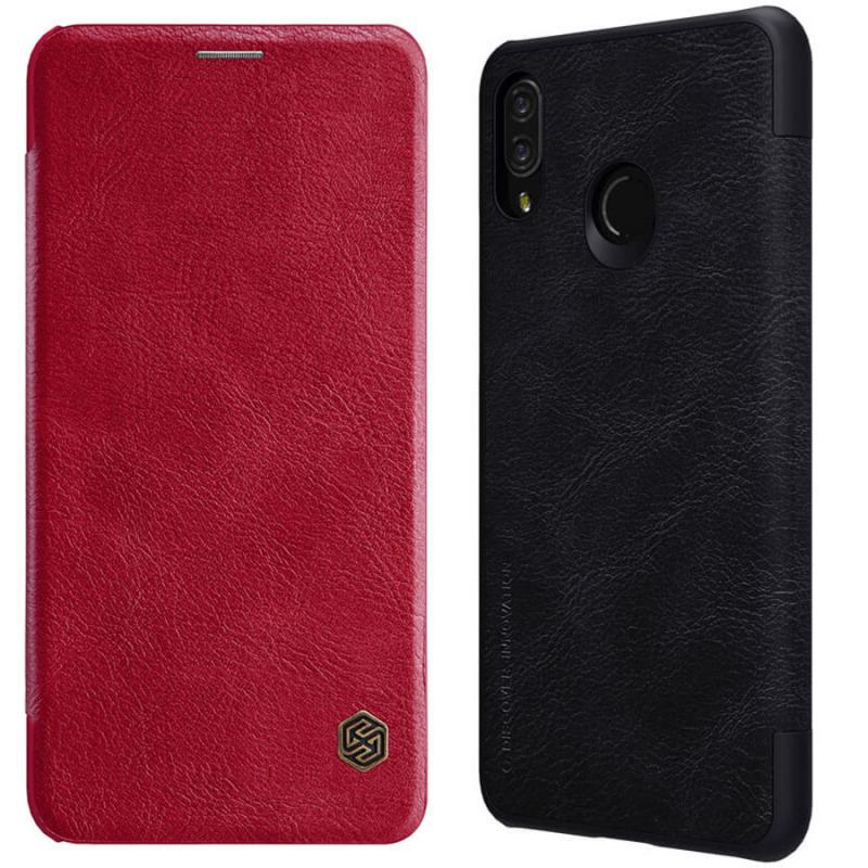 Кожаный чехол (книжка) Nillkin Qin Series для Huawei P Smart+ (nova 3i)