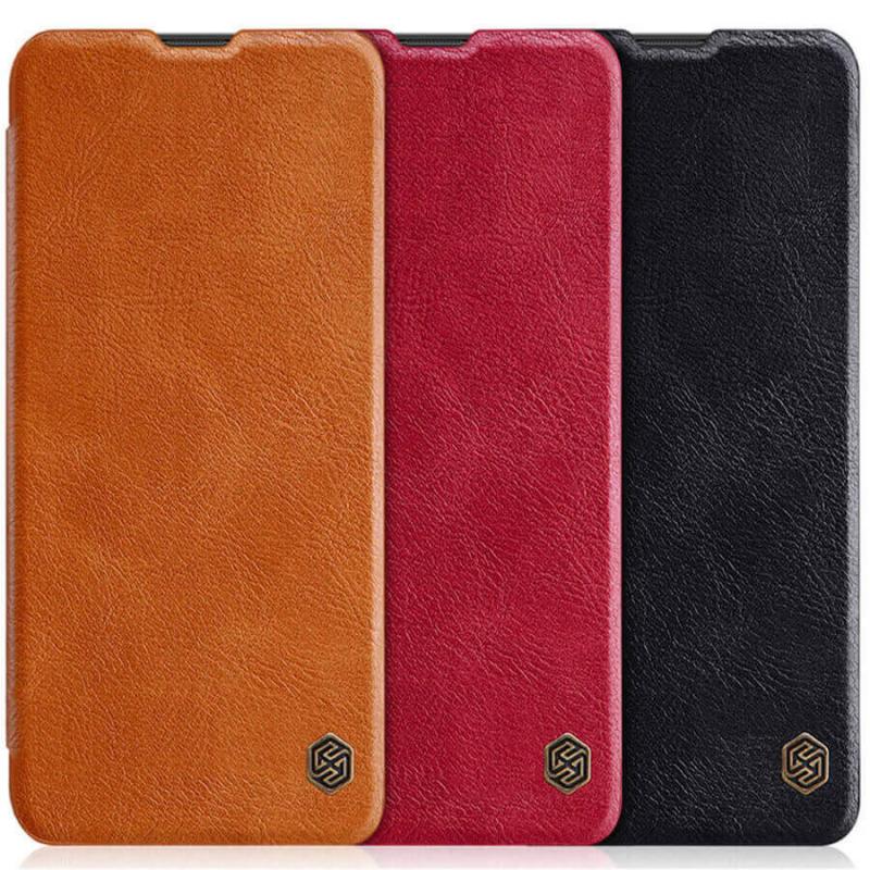 Кожаный чехол (книжка) Nillkin Qin Series для Huawei Y6s