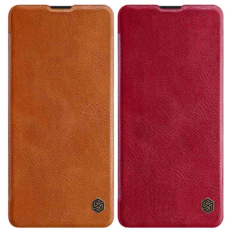 Кожаный чехол (книжка) Nillkin Qin Series для Samsung Galaxy Note 10 Lite (A81)