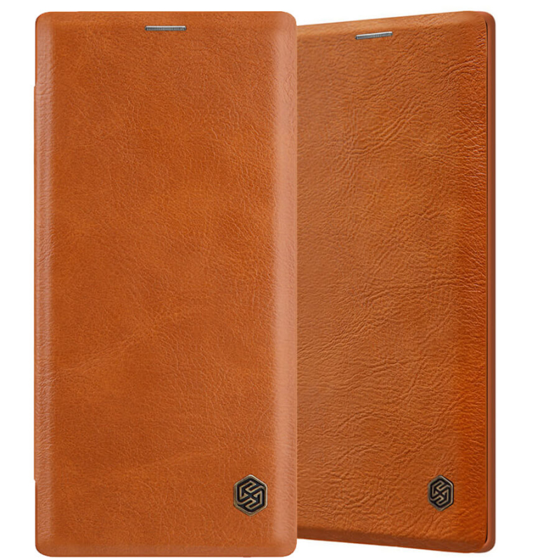 Кожаный чехол (книжка) Nillkin Qin Series для Samsung Galaxy Note 10 Plus