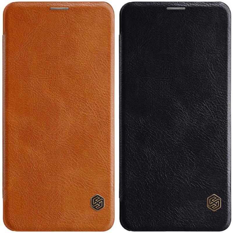 Кожаный чехол (книжка) Nillkin Qin Series для Samsung Galaxy Note 10 Lite