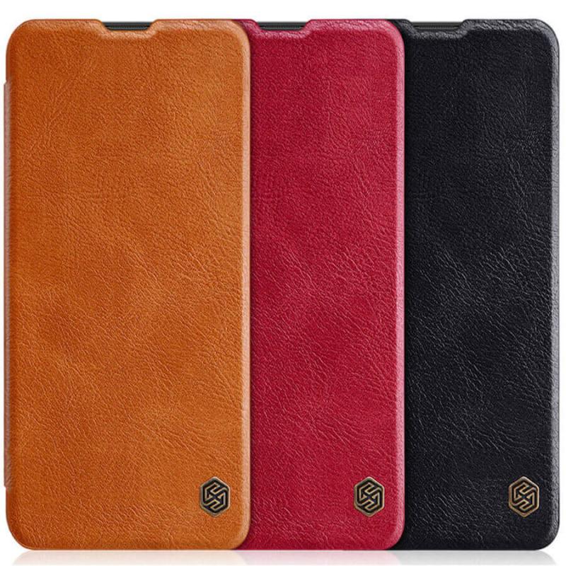 Кожаный чехол (книжка) Nillkin Qin Series для Xiaomi Mi 10