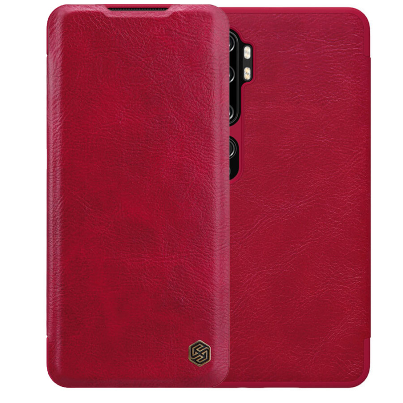 Кожаный чехол (книжка) Nillkin Qin Series для Xiaomi Mi Note 10 / Note 10 Pro / Mi CC9 Pro