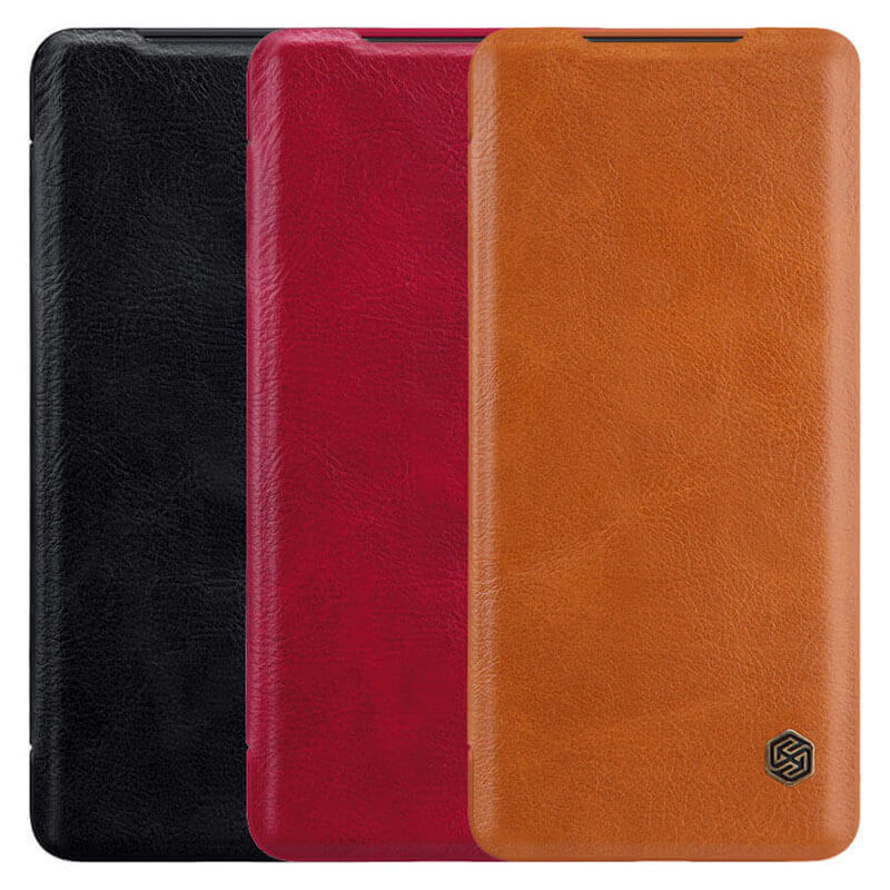 Кожаный чехол (книжка) Nillkin Qin Series для Xiaomi Redmi 9