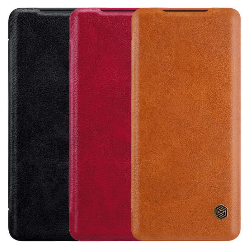 Кожаный чехол (книжка) Nillkin Qin Series для Xiaomi Redmi Note 9 / Redmi 10X