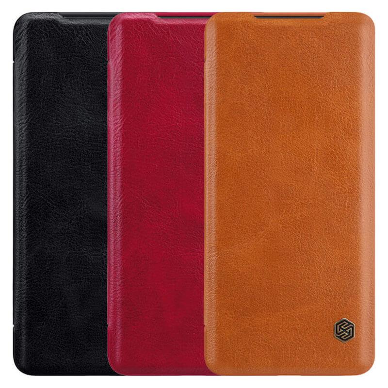 Кожаный чехол (книжка) Nillkin Qin Series для Xiaomi Redmi Note 9 Pro