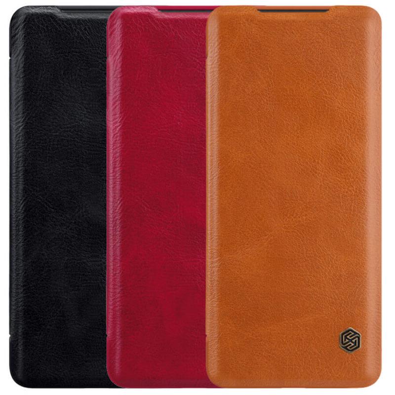 Кожаный чехол (книжка) Nillkin Qin Series для Xiaomi Redmi Note 9 Pro Max