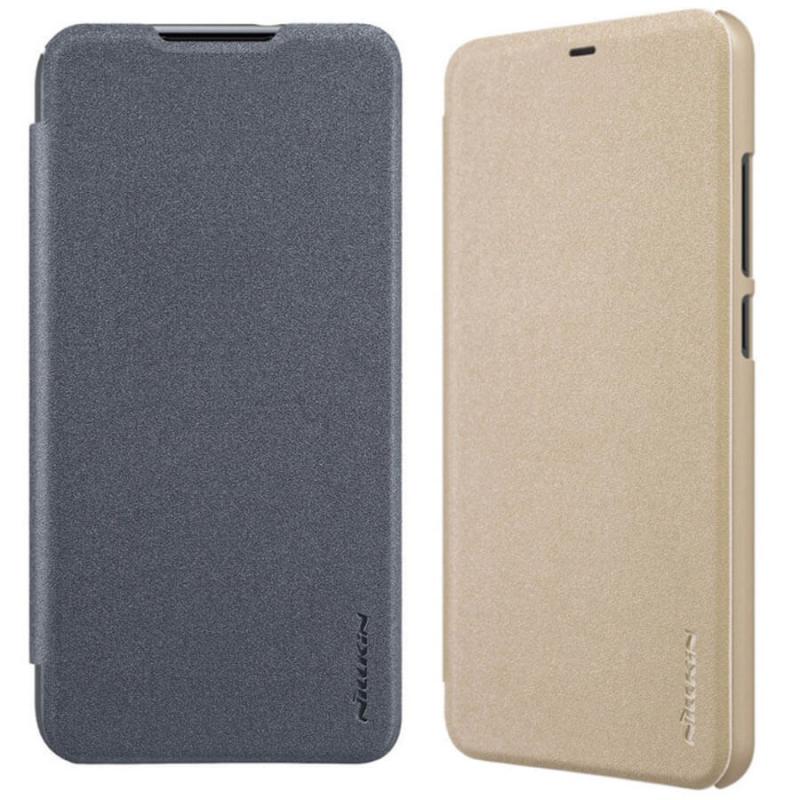 Кожаный чехол (книжка) Nillkin Sparkle Series для Samsung Galaxy Note 10 Lite