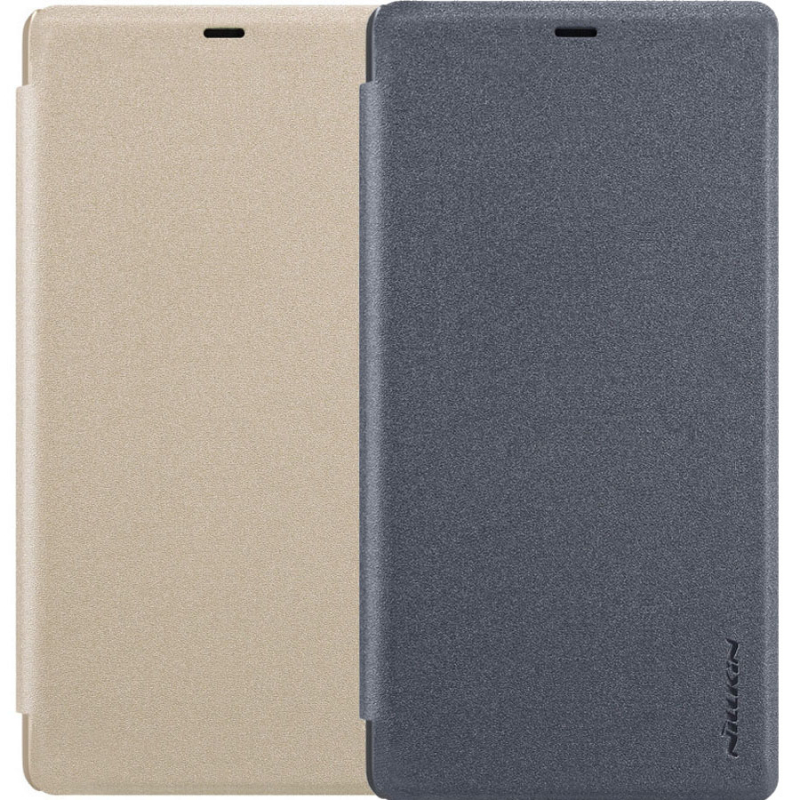 Кожаный чехол (книжка) Nillkin Sparkle Series для Xiaomi Mi 8 SE