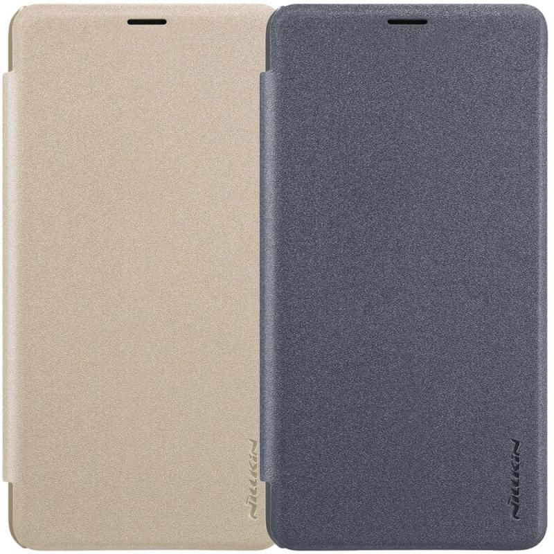 Кожаный чехол (книжка) Nillkin Sparkle Series для Xiaomi Mi Max 3