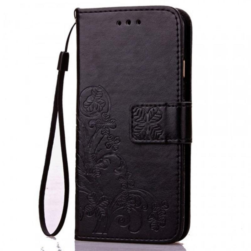 Кожаный чехол (книжка) Four-leaf Clover с визитницей для Huawei Mate 30