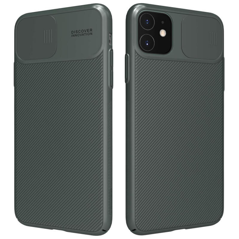 "Карбоновая накладка Nillkin Camshield (со шторкой для камеры) для Apple iPhone 11 (6.1"")"