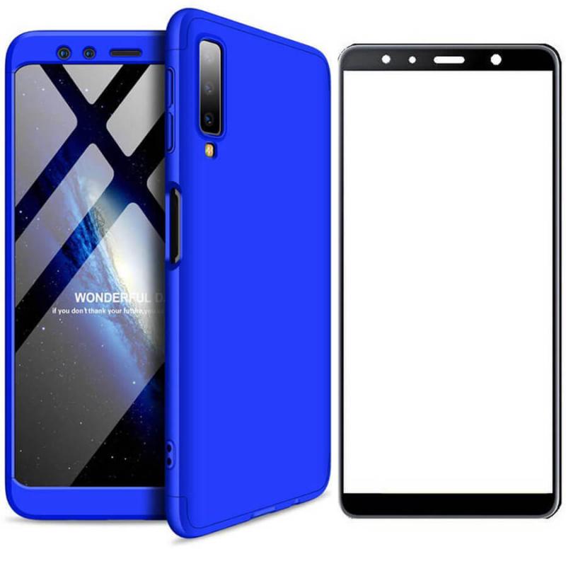 Набор накладка 360 градусов +стекло со скидкой 40% для Samsung A750 Galaxy A7 (2018)