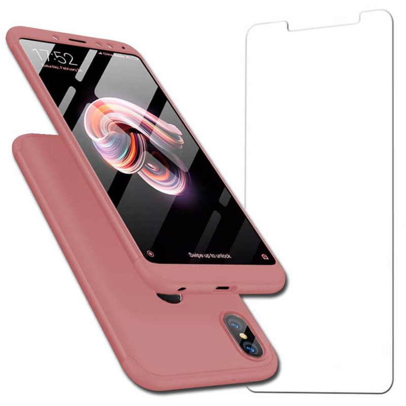 Накладка 360 градусов +стекло со скидкой 50% для Xiaomi Redmi Note 5 Pro / Note 5 (DC)