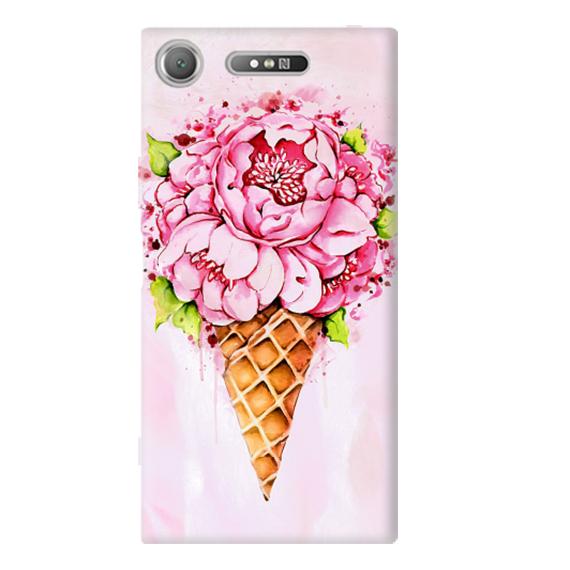 Чехол Ice Cream Flowers для Sony Xperia XZ1 / XZ1 Dual