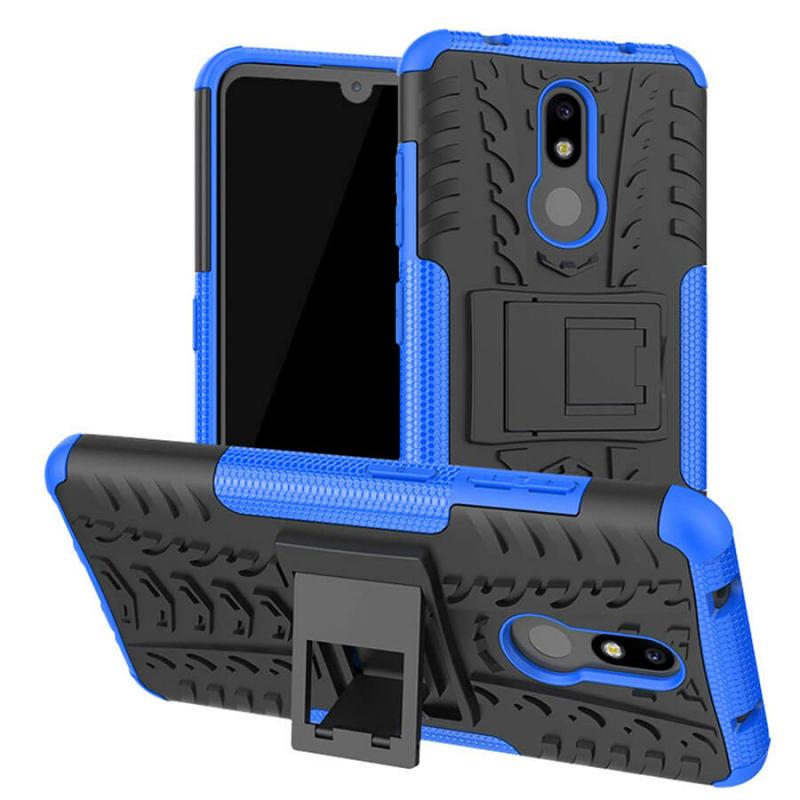 Противоударный двухслойный чехол Shield для Nokia 3.2 с подставкой