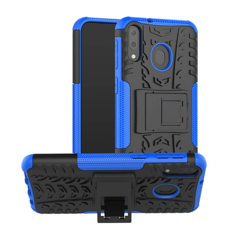 Противоударный двухслойный чехол Shield для Samsung Galaxy M20 с подставкой
