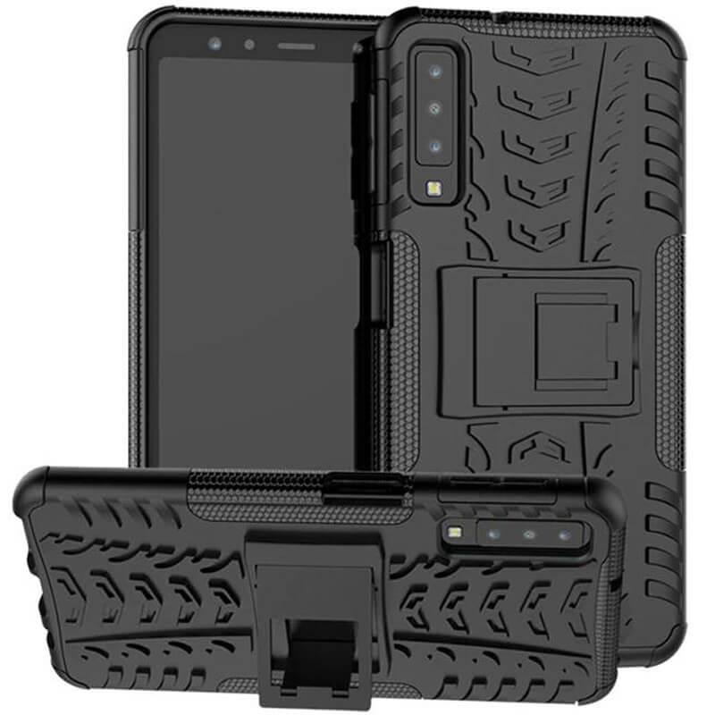 Противоударный двухслойный чехол Shield для Samsung A750 Galaxy A7 (2018) с подставкой