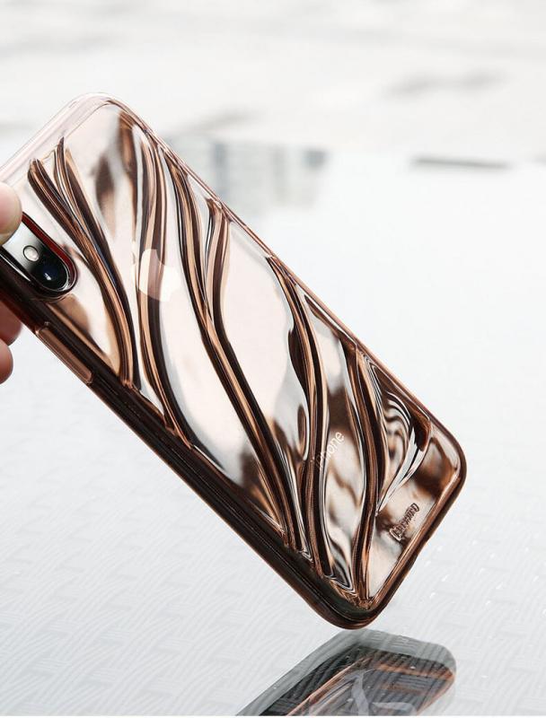 Противоударный TPU чехол с антискользящим узором для Iphone X