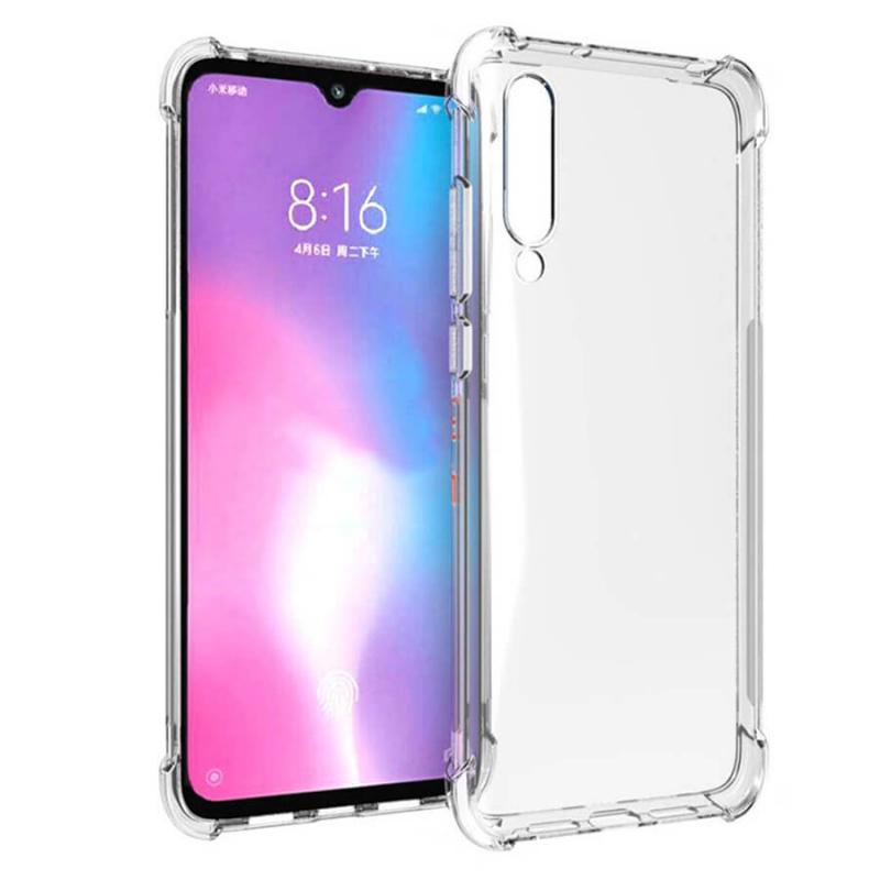 Прозрачный силиконовый чехол с усиленными углами для Xiaomi Mi CC9