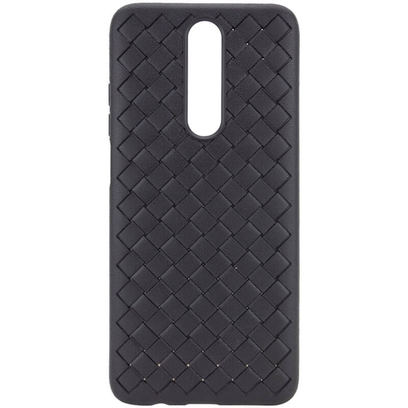 PU чехол-накладка Epik Weaving series для Xiaomi Redmi K30 / Poco X2