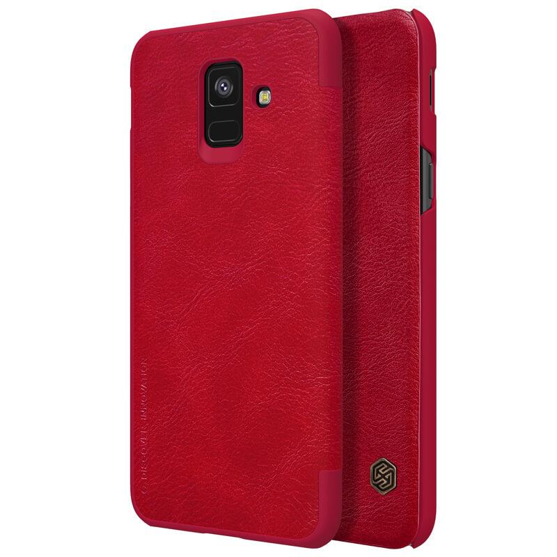 Кожаный чехол (книжка) Nillkin Qin Series для Samsung Galaxy A6 (2018)