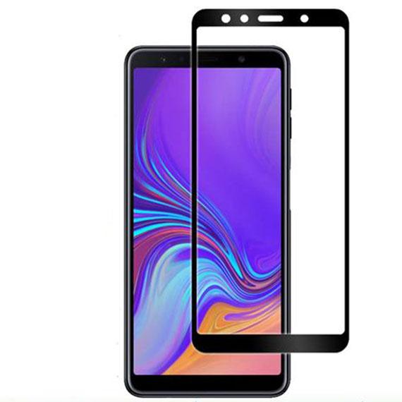Защитное стекло 2.5D CP+ (full glue) для Samsung A750 Galaxy A7 (2018)