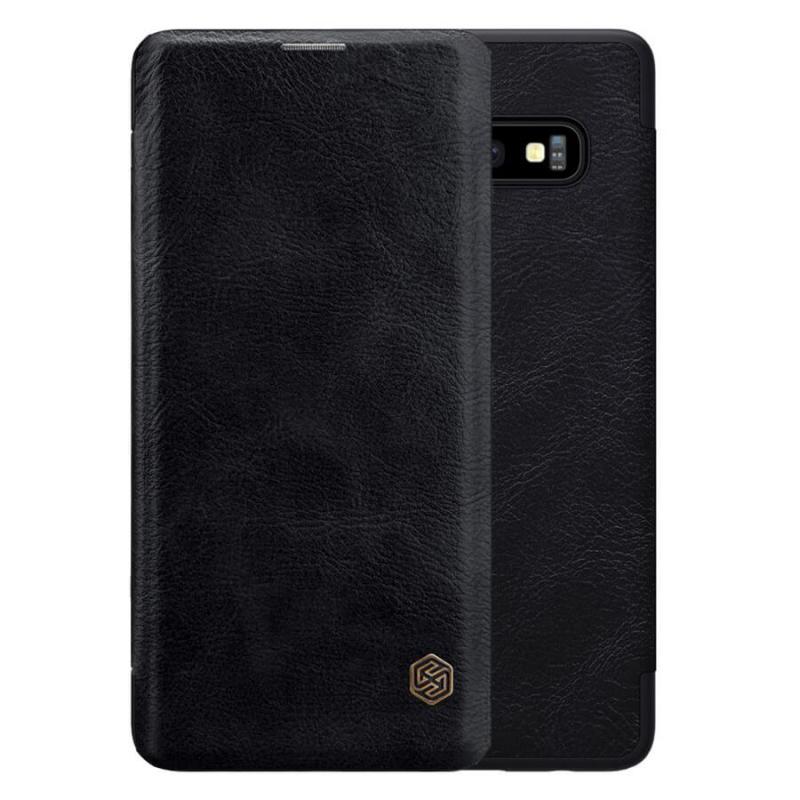 Кожаный чехол (книжка) Nillkin Qin Series для Samsung Galaxy S10