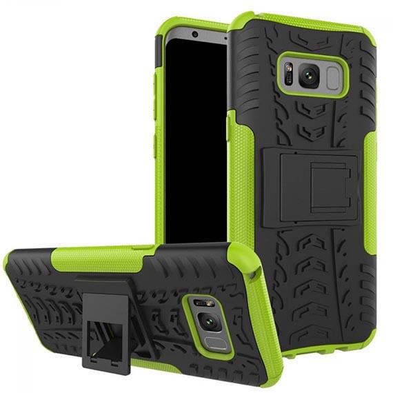 Противоударный двухслойный чехол Shield для Samsung G955 Galaxy S8 Plus с подставкой