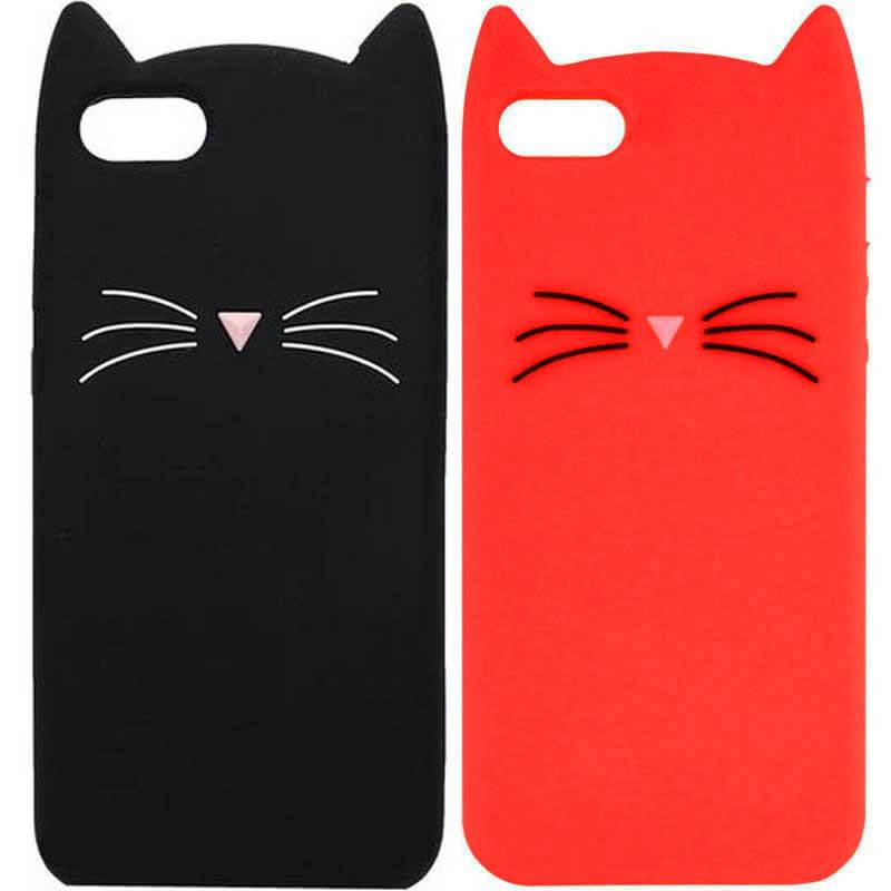 """Силиконовая накладка 3D Cat для Apple iPhone 7 (4.7"""")"""