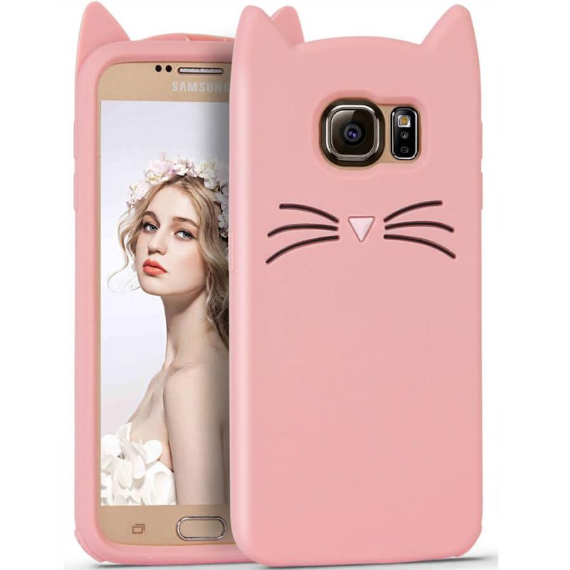 Силиконовая накладка 3D Cat для Samsung G920F Galaxy S6
