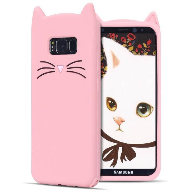 Силиконовая накладка 3D Cat для Samsung G955 Galaxy S8 Plus