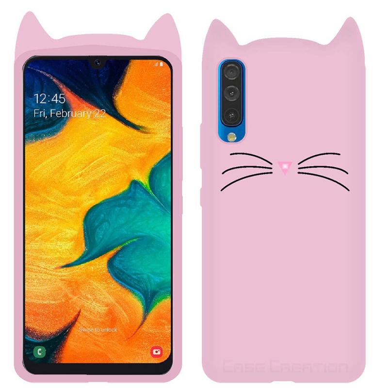 Силиконовая накладка 3D Cat для Samsung Galaxy A70 (A705F)