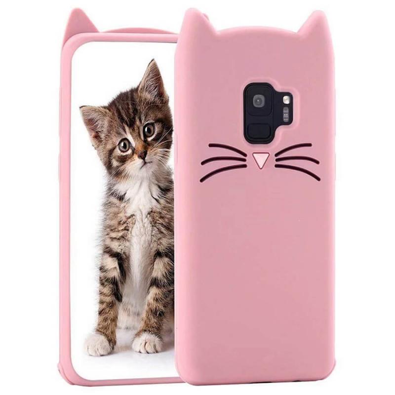 Силиконовая накладка 3D Cat для Samsung J250F Galaxy J2 Pro (2018)