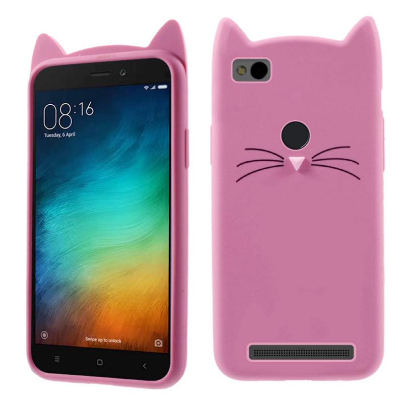 Силиконовая накладка 3D Cat для Xiaomi Redmi 4X