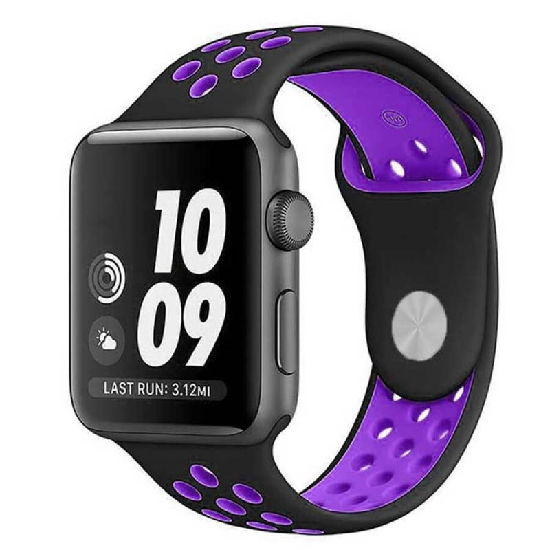 Силиконовый ремешок Sport Nike+ для Apple watch 42mm / 44mm