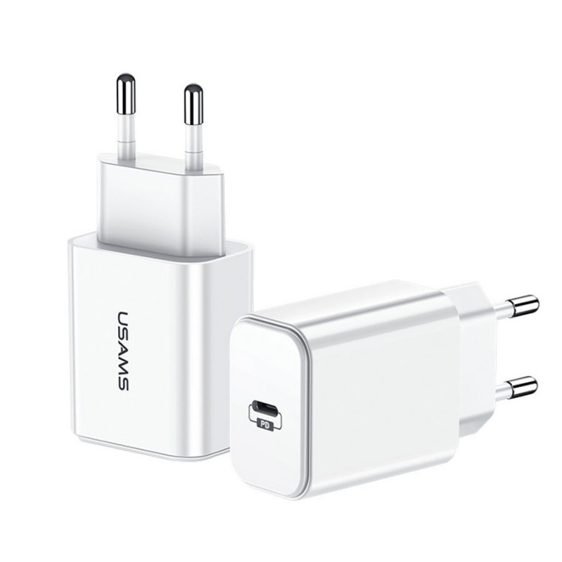 СЗУ USAMS US-CC069 T14 PD Fast Travel USB Charger (EU)