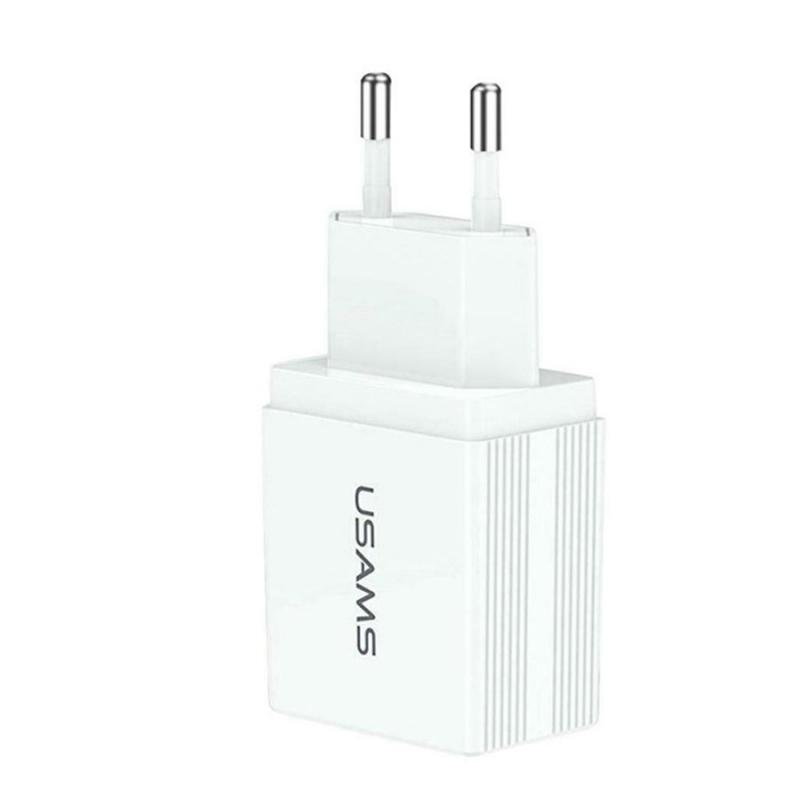 СЗУ USAMS US-CC090 T24 2.1A Dual USB Travel Charger (EU)