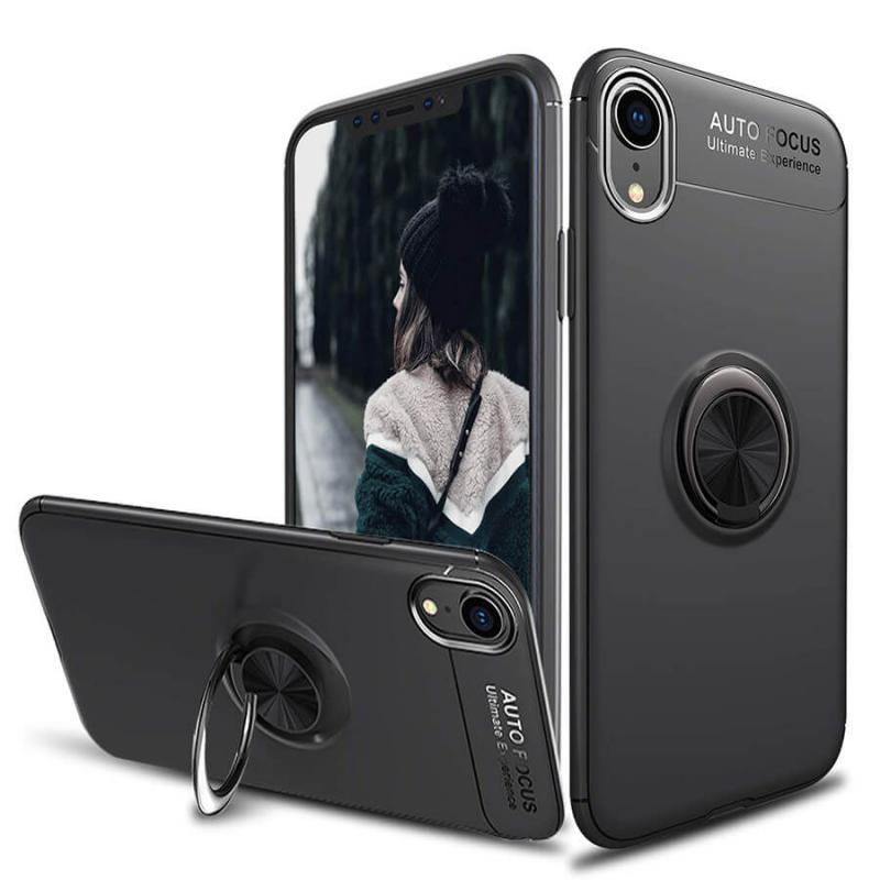 """TPU чехол Deen ColorRing под магнитный держатель для Apple iPhone XR (6.1"""")"""