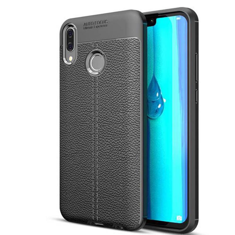 TPU чехол фактурный (с имитацией кожи) для Huawei Y9 (2019) / Enjoy 9 Plus
