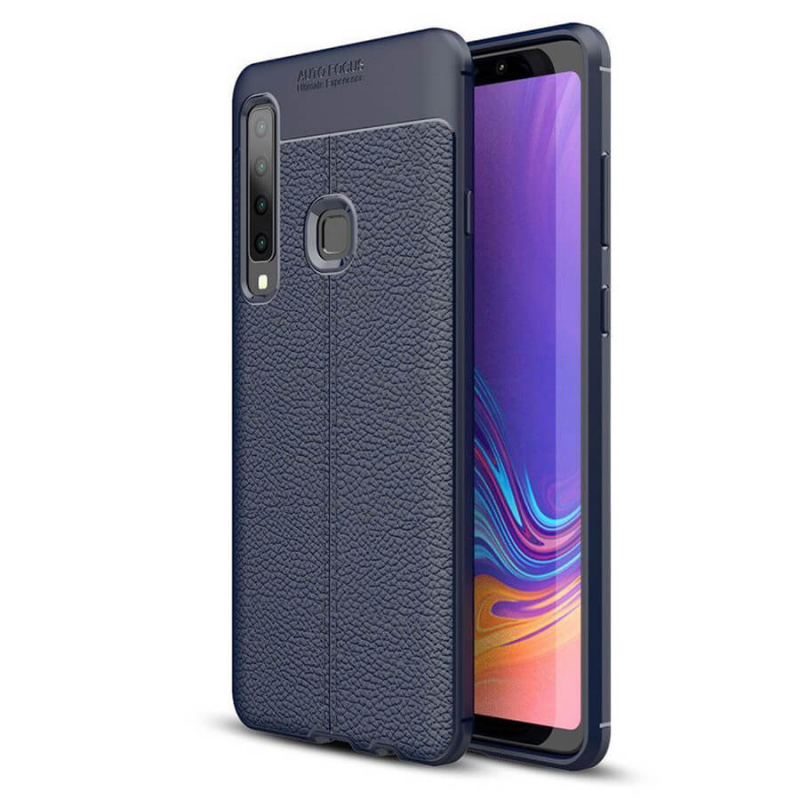 TPU чехол фактурный (с имитацией кожи) для Samsung Galaxy A9 (2018)