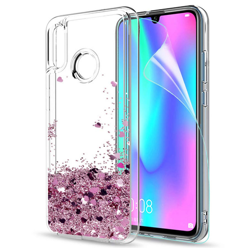 TPU чехол Liquid hearts для Huawei Honor 10 Lite / P Smart (2019)