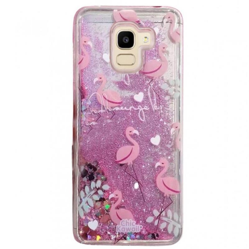 TPU чехол с переливающимися блестками для Samsung Galaxy J7 (2018)