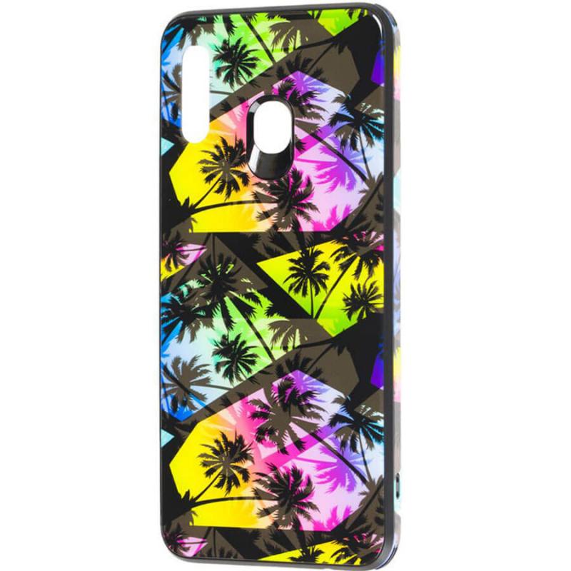 TPU+Glass чехол Cute Print для Samsung Galaxy A40 (A405F)