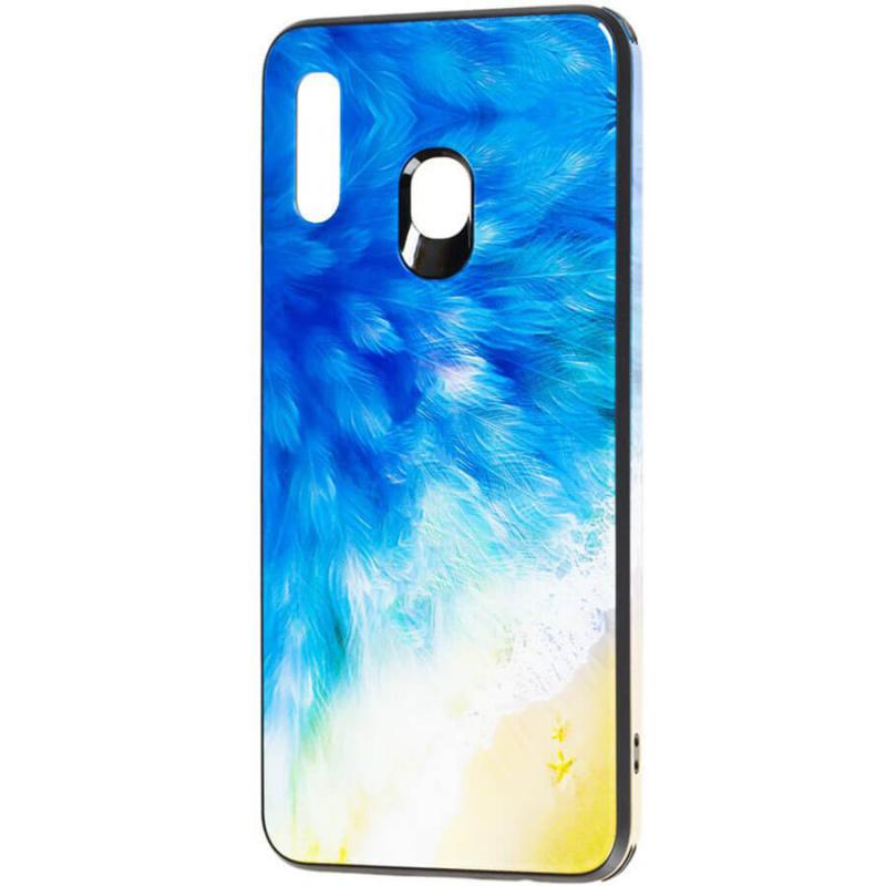 TPU+Glass чехол Cute Print для Samsung Galaxy M30