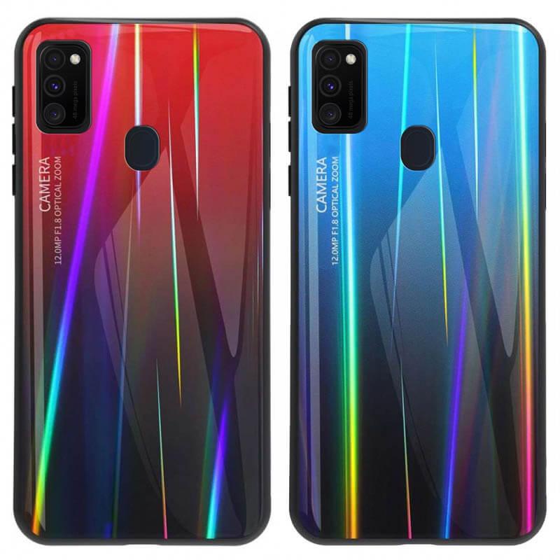 TPU+Glass чехол Gradient Aurora для Samsung Galaxy M30s / M21