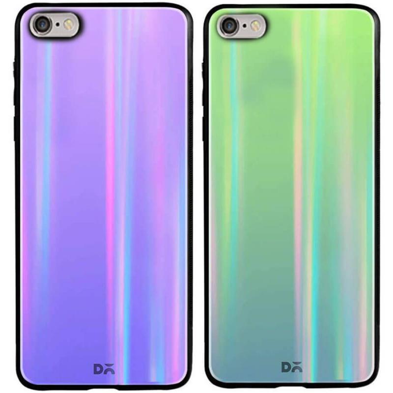 "TPU+Glass чехол Gradient Aurora с лого для Apple iPhone 7 (4.7"")"