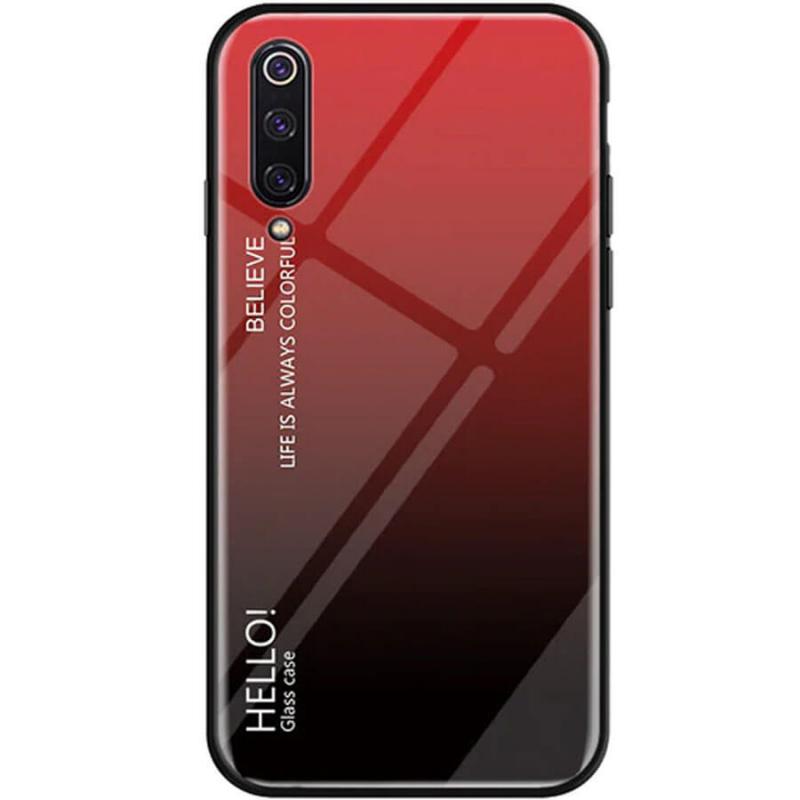 TPU+Glass чехол Gradient HELLO для Xiaomi Mi 9 SE